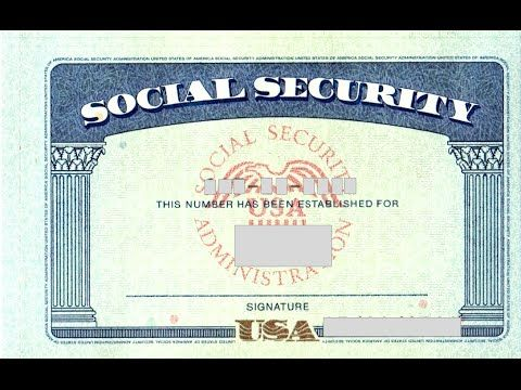Social Security Card Number Youtube Social Security Card Card Templates Free Id Card Template