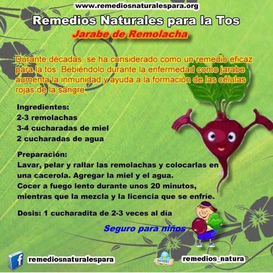 Remedios naturales para la #tos - Jarabe de remolacha
