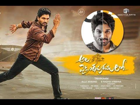 Ala Vaikunthapurramuloo 2020 Allu Arjun Pooja Hegde Nivetha Pethuraj In 2020 Telugu Movies Hd Movies Download Telugu