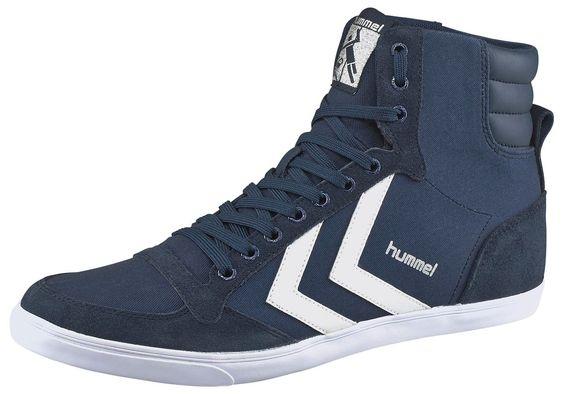 Produkttyp , Sneaker, |Schuhhöhe , Knöchelhoch (high), |Farbe , Marine-Weiß, |Obermaterial , Textil, |Verschlussart , Schnürung, |Laufsohle , Gummi, | ...