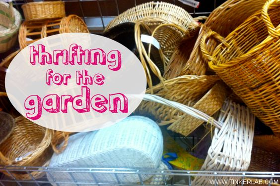 thrifting for the garden. inspiration for saving money and building creative corners in your outdoor spaces