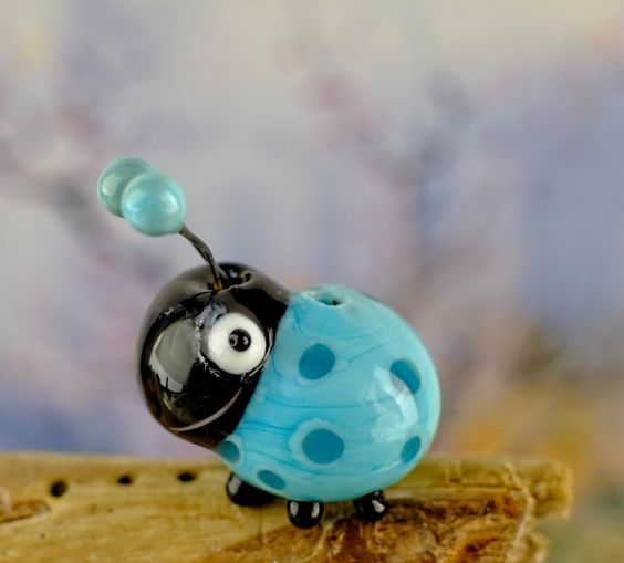 RESERVED for Jan..... lampwork beetle bug..... sra by DeniseAnnette on Etsy