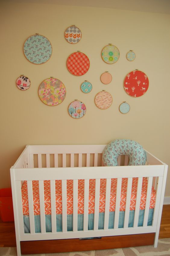 embroidery hoop nursery decor just add fabric love