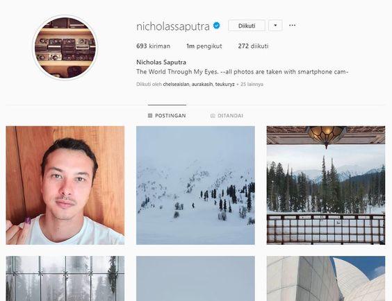 Selfie Nicholas Saputra