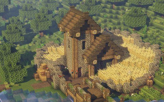 Medieval Farmhouse Minecraft Project Farmhouse Medieval Minecraft Project Honeymoon Honey Moon Ideas Minecraft Farm Minecraft Projects Minecraft Medieval