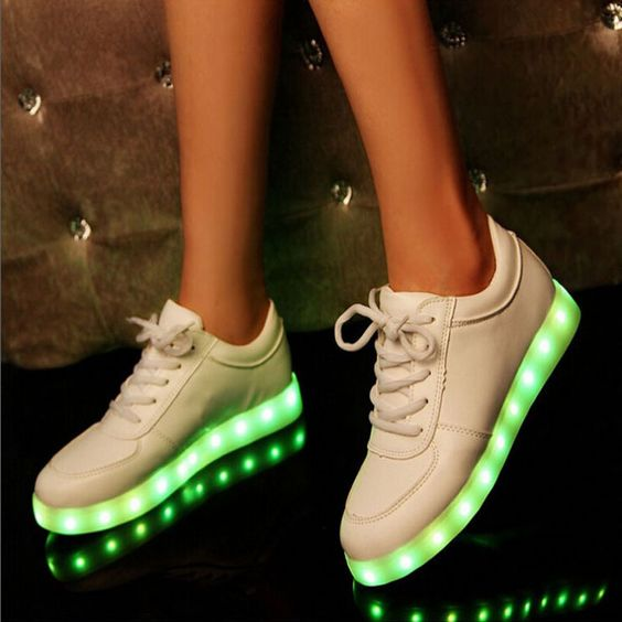 colorful glow luminous led shoes yeezy basket femme unisex sneakers usb rechargeable light for men women - Basket Femme Color