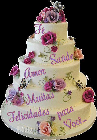 bolo de feliz aniversario   Desejo que esse dia seja de muitas alegrias e que você realize seus ...