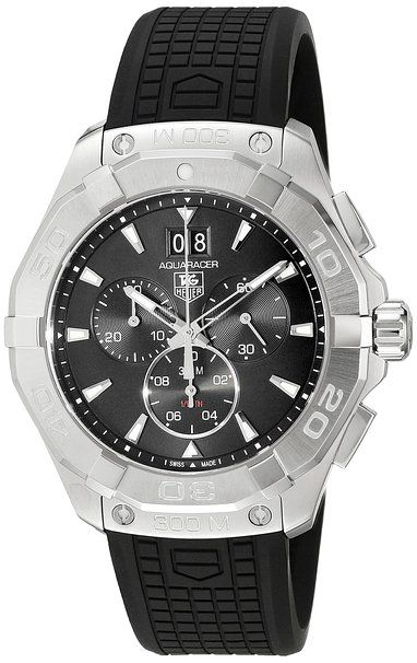 TAG Heuer Men's Swiss Quartz Stainless Steel and Rubber Casual Watch- Sporty and casual yet classy enough to wear for a night out on the town. Give your wrist the recognition it deserves!