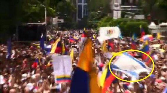 ¿Qué hacían banderas israelíes en la marcha Toma de Caracas?