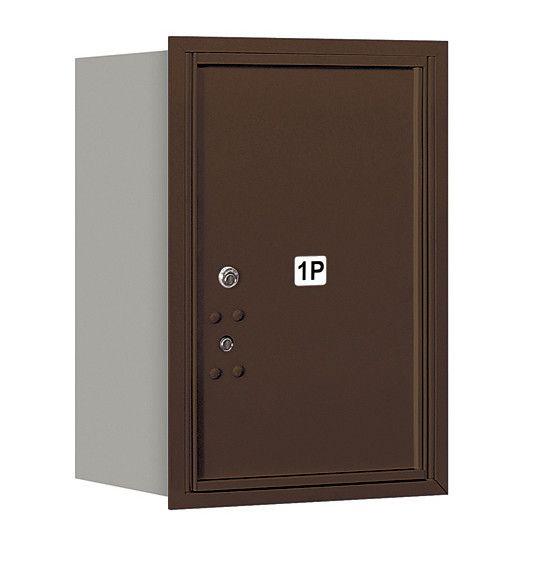 4C Horizontal Mailbox 6 Door High Unit Single Column Stand-Alone 1 Parcel Locker Rear Loading Private Access