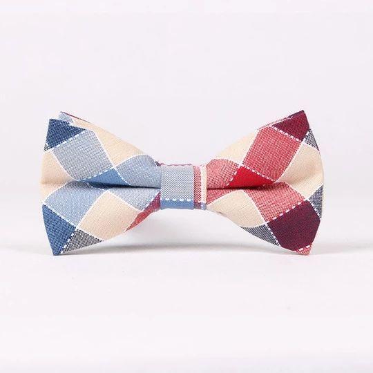 High Quality Men/'s Bow Tie Adjustable Cotton Bowtie Plaids Checks Butterfly part