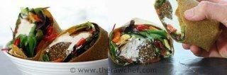 mediterranean wraps with falafel and cashew hummus.