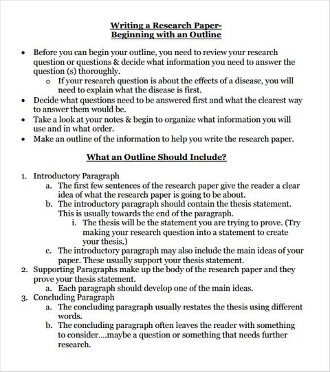 Research Paper Outline Template 9 Download Free Documents In Pdf Research Paper Outline Template Research Paper Outline Paper Writing Service