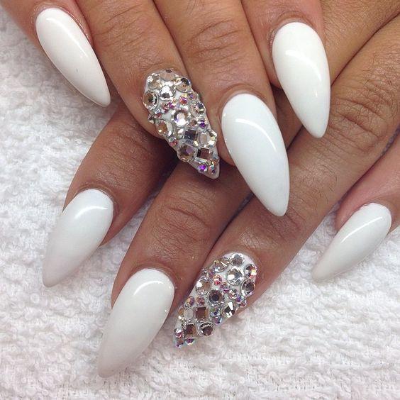 Stiletto nails, Nails and White stiletto nails on Pinterest