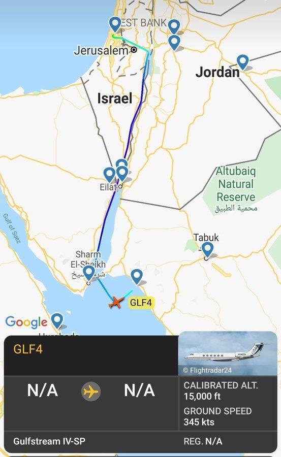Avi Scharf Avischarf Twitter Tabuk Suez Gulfstream Iv