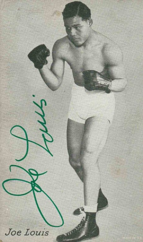 Joe Louis signature on card