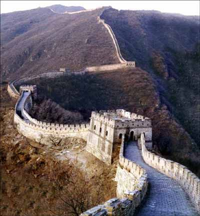 La grande muraille de chine - une des 7 merveilles du monde désignées en 2007.: