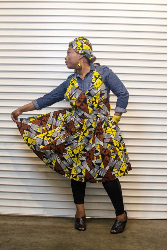 Yellow & Brown Majestic Apron by AnnieMaesCookwear on Etsy