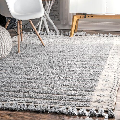 Banks Hand Knotted Wool Light Gray Area Rug Joss Main Area Rugs Light Grey Area Rug Grey Area Rug