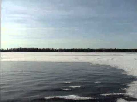 The sound of a lake freezing.