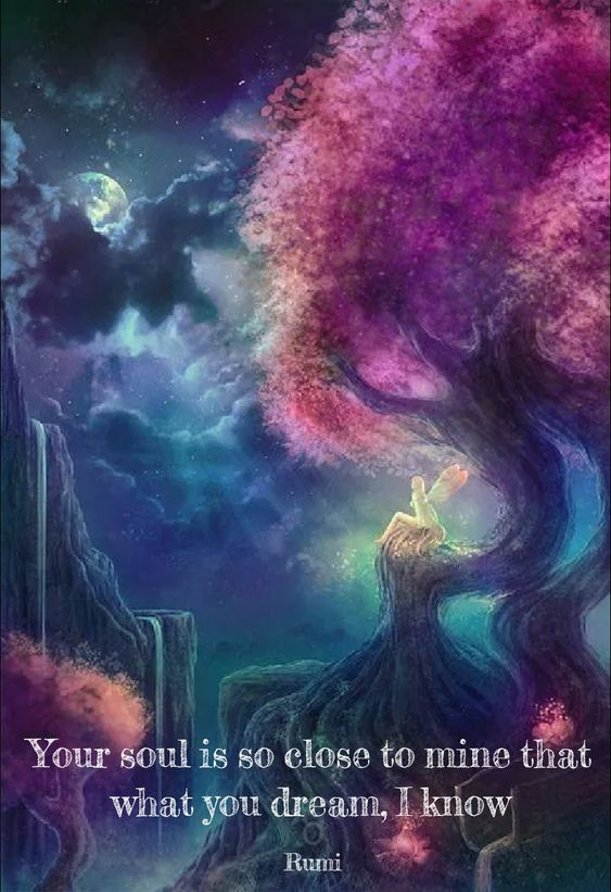 Your soul is so close to mine that what you dream, I know Rumi