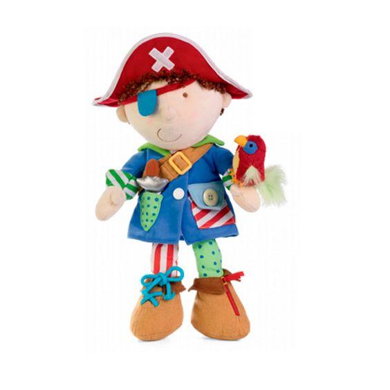 ¡¡ Adelante Bucaneros !!. Os presentamos al Pirata Abroches, este muñeco se convertirá en el compañero ideal del peke, mientras utiliza su imaginación y se transforma en un pirata que navega por lejanos mares, luchando en grandes batallas por alcanzar el tesoro.