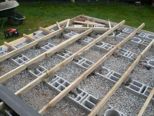 Installation facile de votre terrasse en bois avec des plots et