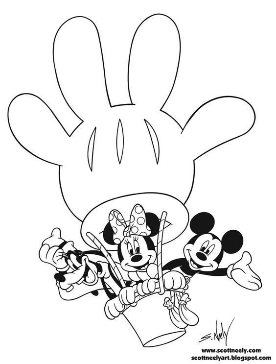 Mickey Mouse Colouring Pictures