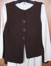 Sally Melville knits // asymmetrical vest
