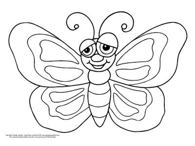 Free Printable Butterfly Coloring Pages For Kids Butterfly