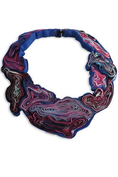 Marina Callis - Rococo necklace made from recycled textiles