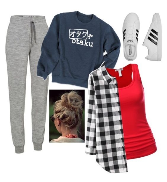 """Airport Outfit 2"" by smgeekgirl on Polyvore featuring Icebreaker and adidas"