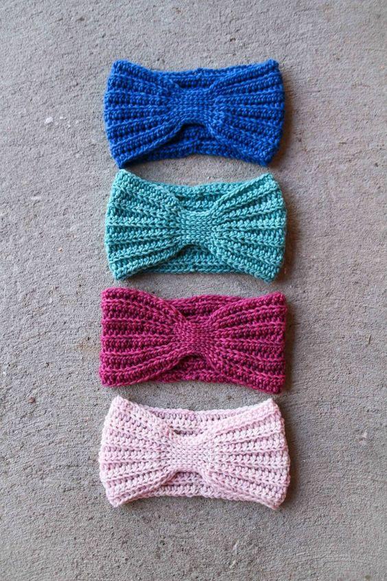 Free Crochet Pattern Headwrap : Head wraps, Free pattern and Patterns on Pinterest