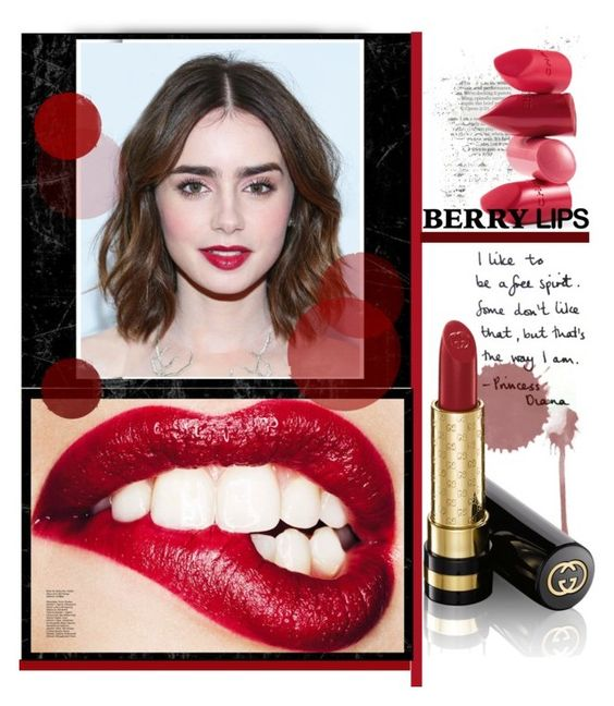 """""""Berry Pretty Lipstick"""" by samanthasade ❤ liked on Polyvore"""