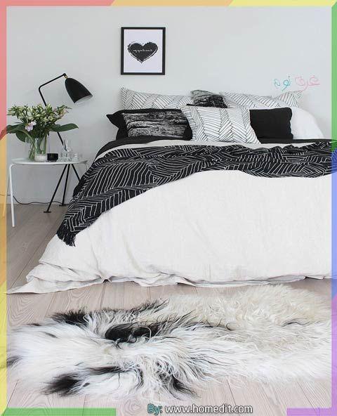 غرفة نوم ابيض واسود White Bedroom Trendy Bedroom White Bedroom Decor
