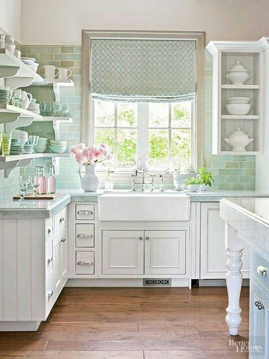 Clean And Classic Cozy Cottage Kitchen   Better Homes And Gardens | Maine  Cottage | Pinterest | Cottage Kitchens, Cozy And Kitchens Part 72