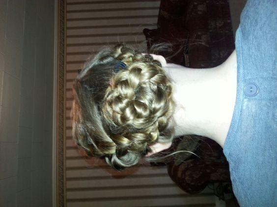 Triple French braided bun a 20 min hairstyle  ~Savannah from Savannah does hair. Hair type thick, wavy, and wet