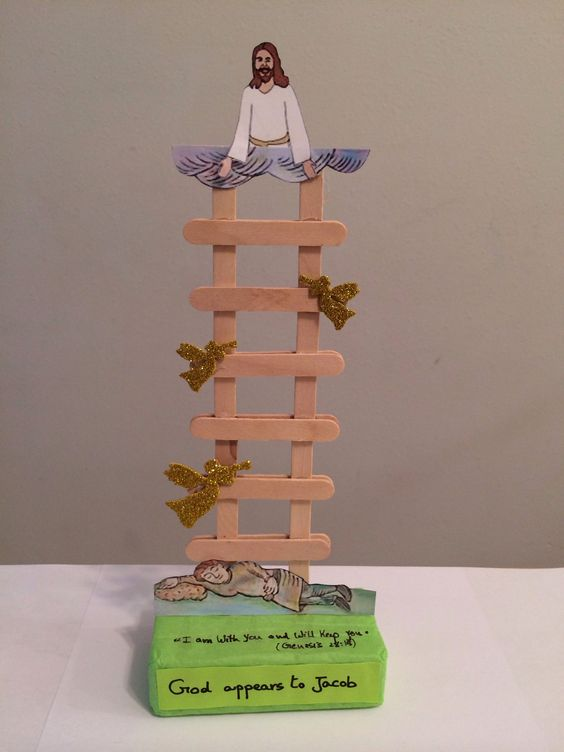 Jacob 39 s ladder good craft for using up popsicle sticks for Escaleras que suben y bajan