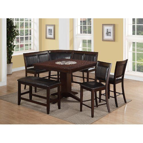4 Piece Counter Height Dining Set Harrison Brown Counter Height Dining Table Set Tall Dining Table Counter Height Table