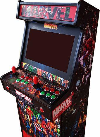 Diseño y produccion Mueble recreativa arcade  vinilo decorativo e impresion uvi sobre metacrilato.Aritz linazisoro&The image company.