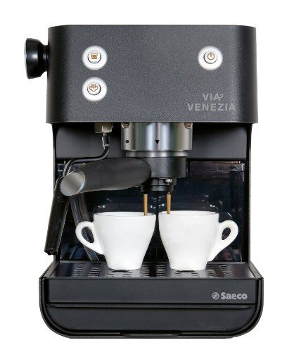 The Via Venezia is a durable, high performance, traditional pump espresso machine with an art-deco styling. It features a patented pressurized brew filter that makes