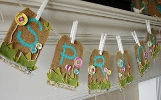 spring burlap banner, #Easter