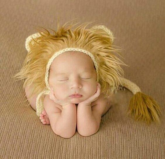 Gorro león para sesion de fotos