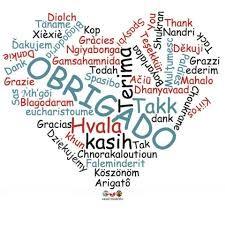 Resultado de imagem para agradecimento de aniversário em várias línguas