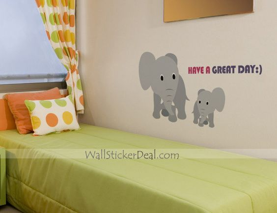 #wallstickerdeal.com      #Wall Sticker             #Elephant #Great #Animal #Wall #Sticker #WallStickerDeal.com                  Elephant Great Day Animal Wall Sticker � WallStickerDeal.com                                            http://www.seapai.com/product.aspx?PID=557580