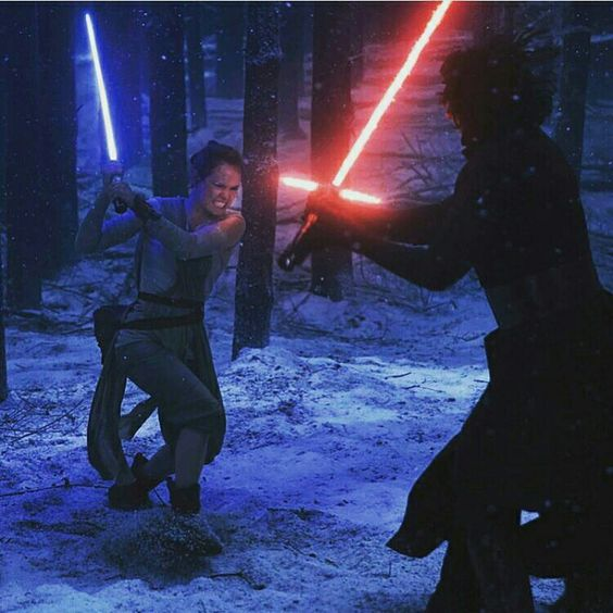 Rey Vs Kylo Ren on Starkiller Base Duel