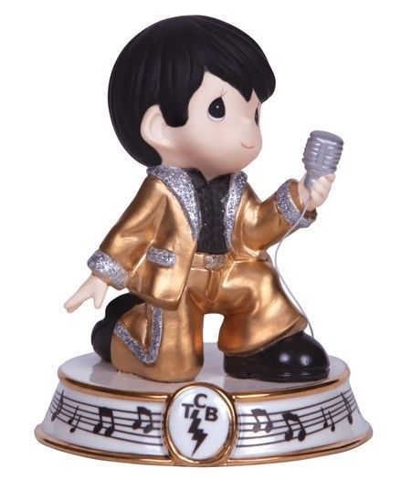 Precious Moments Elvis Presley in Gold Suit I Need Your Love Tonight #133031 MIB