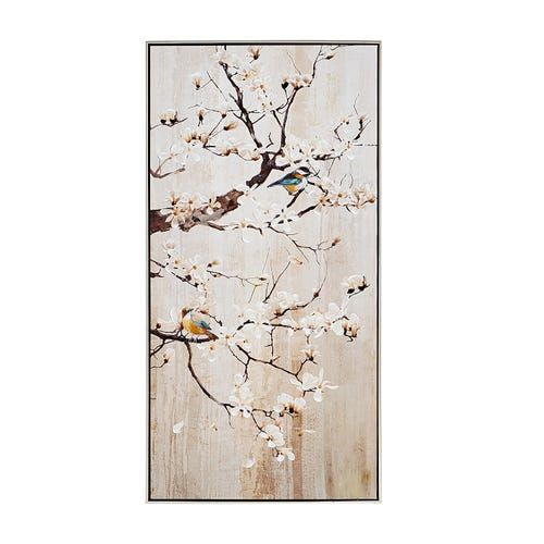 Cherry Blossom Branches With Birds Ii Wall Art Cherry Blossom Wall Art Cherry Blossom Decor Framed Wall Art