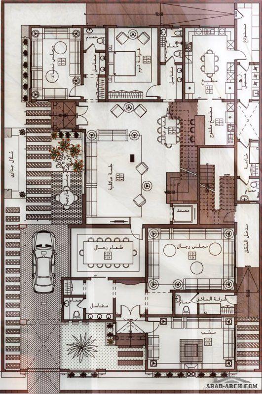 احدث تصميم فيلا دورين و ملحق مع شقق خلفية من اعمال Egyrevit In 2020 Family House Plans Modern House Floor Plans Model House Plan