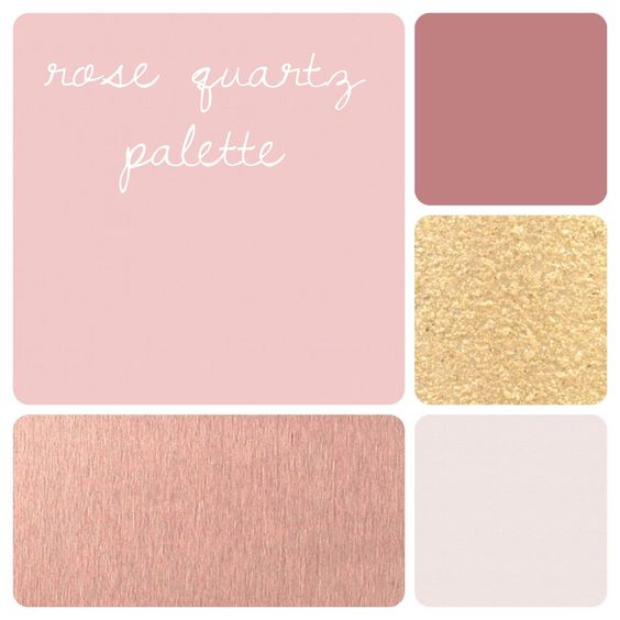 Rose Quartz Color Palette Shimmery Gold Deep Rose Rose